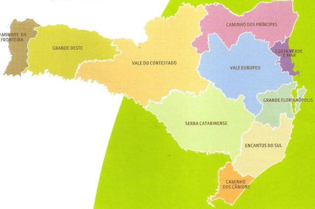 mapa turístico Santa Catarina