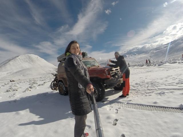 Neve nos Gêiseres de Tatio - 100 KM de San Pedro de Atacama